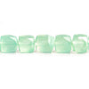 Seafoam Green Chalcedony Faceted Cube Beads 8 inch 27 pieces