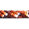 Fire Opal Plain Rondelle Beads 18 inches 110 pieces