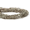 3-5mm Light Smoky Quartz faceted rondelle Beads 13.5 inches 114 pieces