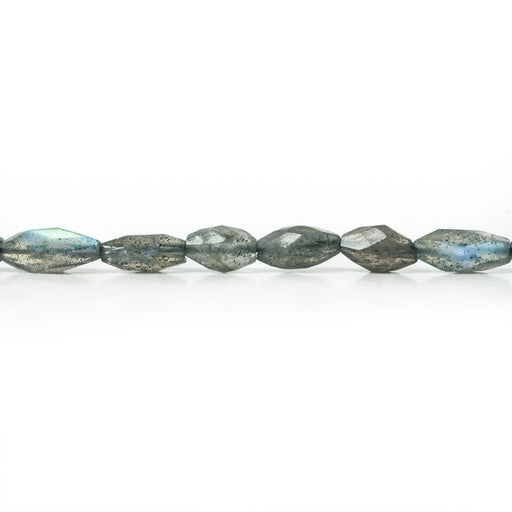 6x3-7x3mm Labradorite Straight Drill Faceted Marquise Beads 14 inch 48pcs