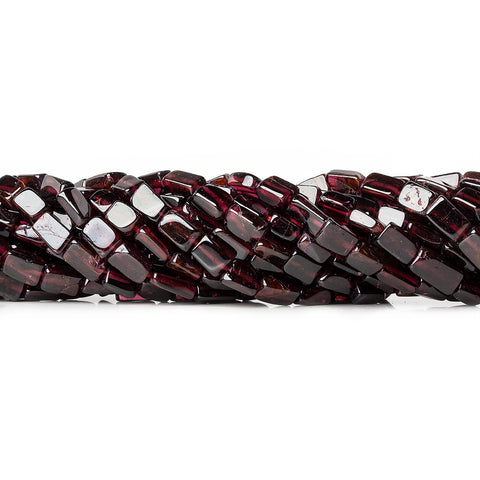 7mm Rhodolite Garnet Plain Rectangle Beads, 14 inch