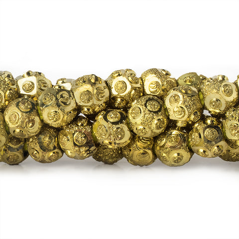 Best selling 5mm Brass Diamond Cut Wave Circle Round Beads, 8 inch - Buy From The Bead Traders Online Store