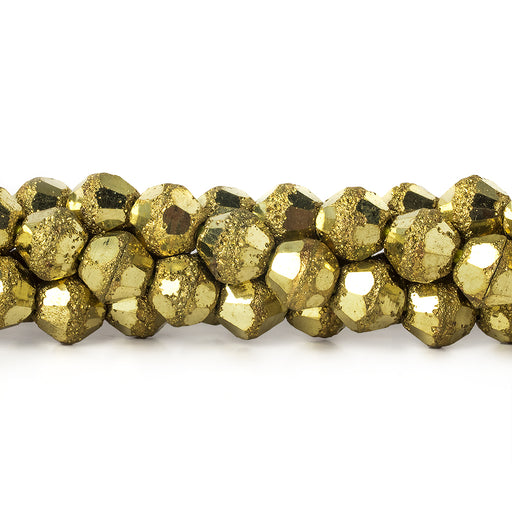 "Brass Round 5mm Nugget Bead Stardust & Plain, 8"" length, 43 pcs"
