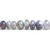 Purple Chalcedony Plain Rondelle Beads 18 inch 145 pieces