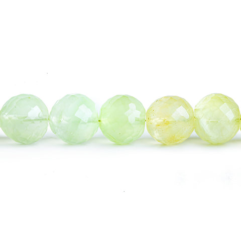11mm Prehnite Faceted Round Beads 9 inch 23 pieces
