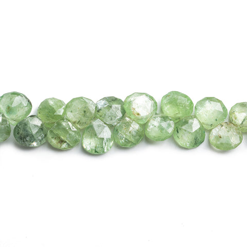 Green Kyanite Faceted Heart Beads 8 inch 40 pieces