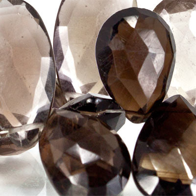 Best buying Shaded Smoky Quartz Pear Briolette Beads - Buy From The Bead Traders Online Store