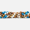 Multi Color Multi Shape Pearls 16 inch 68 pieces