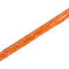Carnelian Faceted Rondelle Beads - Lot of 2