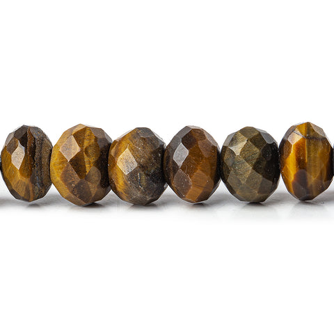 Best range of Golden Brown Tiger Eye Bead Faceted Rondelle 8mm - Buy From The Bead Traders Online Store