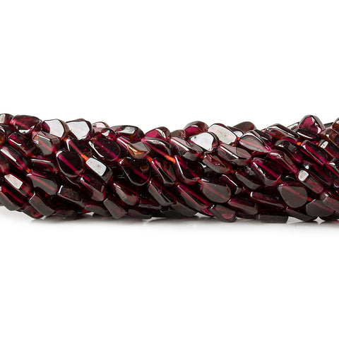 Garnet Beads Plain 5-7mm Flat Pears