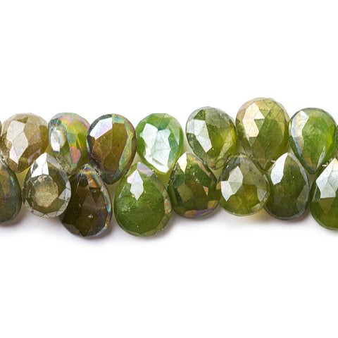 12x10mm Mystic Idocrase Faceted Pear Beads 8 inch 53 pieces