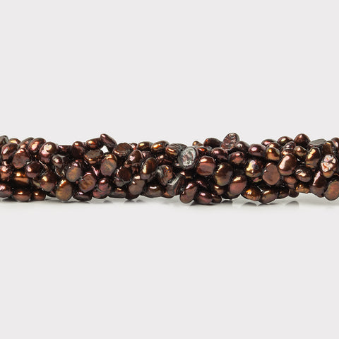 Iridescent Brown Freshwater Pearls 3-4mm Baroque