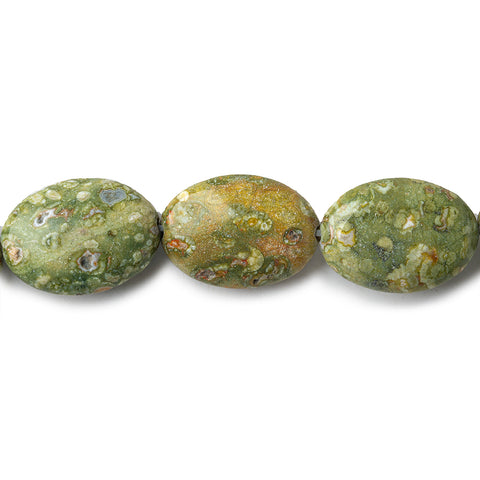 Beautiful range of 18x14mm Rhyolite Plain Oval Beads 16 inch 23 pcs - Buy From The Bead Traders Online Store