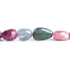 13x10mm-17.5x10mm Multi Color Tourmaline Plain Nugget Beads 16 inch 30 pieces