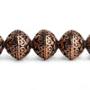 Copper Round Beads 8 inch 17 pieces