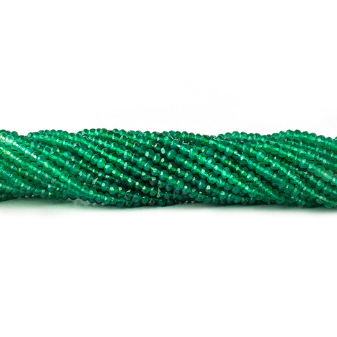 Best selling 3mm Green Onyx Faceted Rondelle Beads, 14 inch - Buy From The Bead Traders Online Store