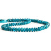 7mm Neon Blue Apatite Faceted Rondelle Beads 14 inch 90 pieces