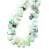 Blue Peruvian Opal faceted pears 7 inch 8x6-11x7mm 45 beads