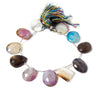 Party Agate Beads Top Drilled Free Shapes 8 inch strand, 17-25mm