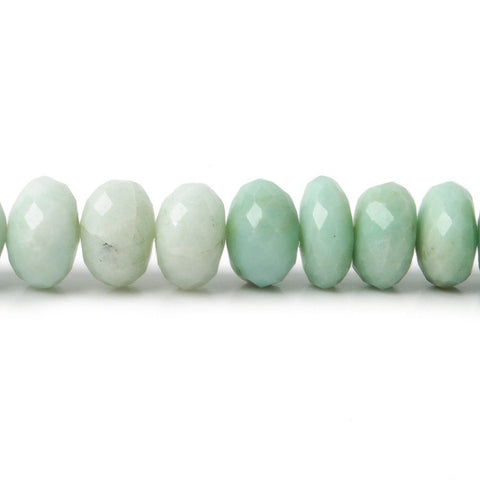 7mm Amazonite Faceted Rondelles 15 inch 85 Beads