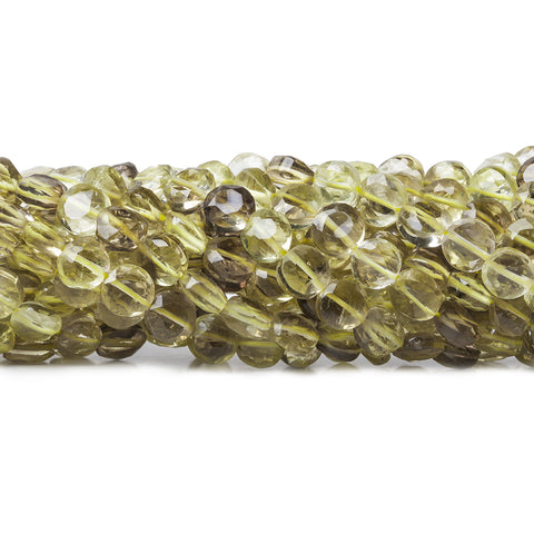 5mm Bi-colored Quartz Beads Faceted Coin Beads, 14 inch,