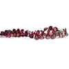 6mm Rhodolite Garnet Faceted Heart Beads 8 inch 64 pieces