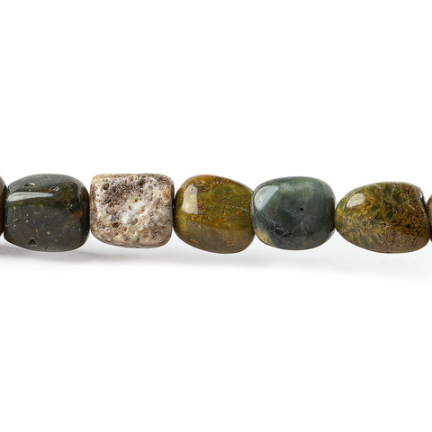Premium quality 8mm Mountain Jasper Plain Nugget Beads, 15 inch - Buy From The Bead Traders Online Store