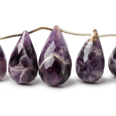 18x10-30x16mm Cape Amethyst faceted teardrop beads 8 imch 14 pieces