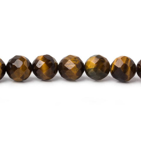 Superior quality 8mm Tiger Eye Faceted Round Beads, 15 inch - Buy From The Bead Traders Online Store