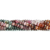 5mm Multi Color Spinel Plain Rondelle Beads 15 inch 130 pieces