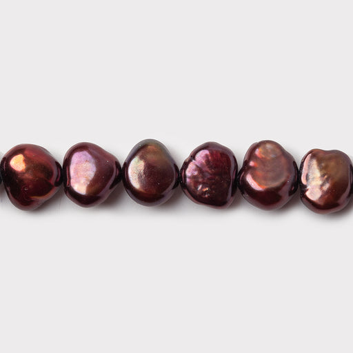 7mm Wine Baroque Freshwater Pearls, 16 inch