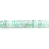 Aquamarine Faceted Rondelle Beads 15 inch 200 pieces