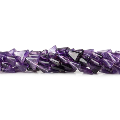 7-9mm Cape Amethyst Plain Triangle Beads, 14 inch