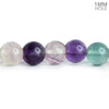 8mm Multi Color Fluorite plain round beads 15.5 inch 50 pieces
