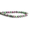 7mm Ruby in Zoisite Faceted Round Beads 8 inch 35 pieces