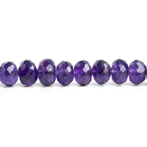 7mm Amethyst Faceted Rondelle Beads 16 inch 93 pieces