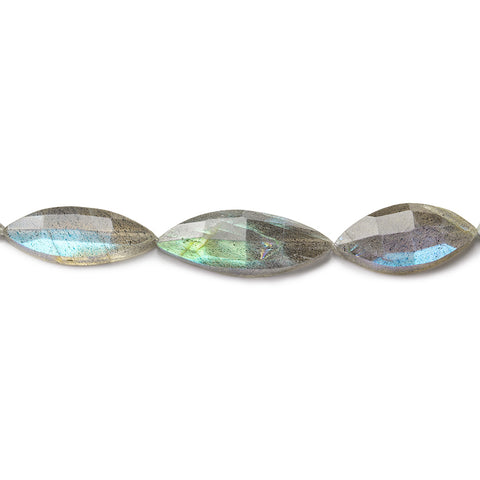 17x8-23x10mm Labradorite straight drilled faceted marquise 8 inch 10 pieces