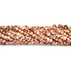 3mm Rose Gold plated Copper shiny faceted nugget beads 8 inch 73 pieces