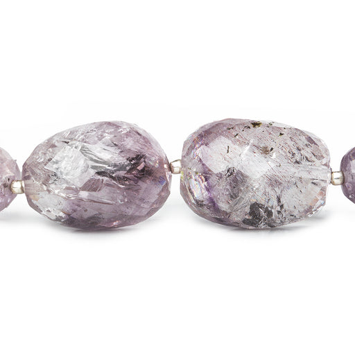 15x12.5-24x15mm Mossy Amethyst faceted nugget beads 16 inch 21 pieces