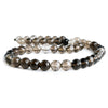9mm Smoky Quartz Faceted Round Beads 16 inch 49 pieces