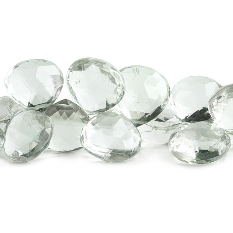 Prasiolite Faceted Heart Beads 8 inch 39 pieces
