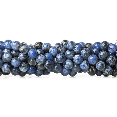 5-6mm Sodalite Plain Round Beads, 14 inch