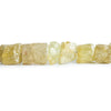 6x5mm-14x11.5mm Heliodor Beryl Straight Drilled Natural Crystal Beads 16 inch 47 pieces