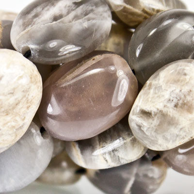 Beautiful range of 7mm-12mm Moonstone Plain Oval Beads - Buy From The Bead Traders Online Store