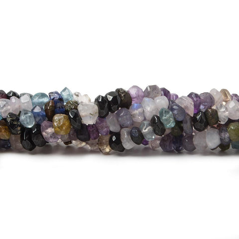 Top quality 4mm Multi Gemstone Faceted Rondelle Beads, 14 inch - Buy From The Bead Traders Online Store