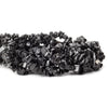 7mm Black Quartz Chip Beads, 34 inch