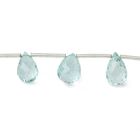 High quality Light Blue Glass Beads Faceted Top Drilled 7-10mm Teardrops - Buy From The Bead Traders Online Store