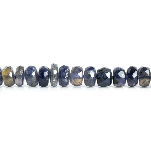 7mm Iolite Faceted Rondelle Beads 9 inch 57 pieces