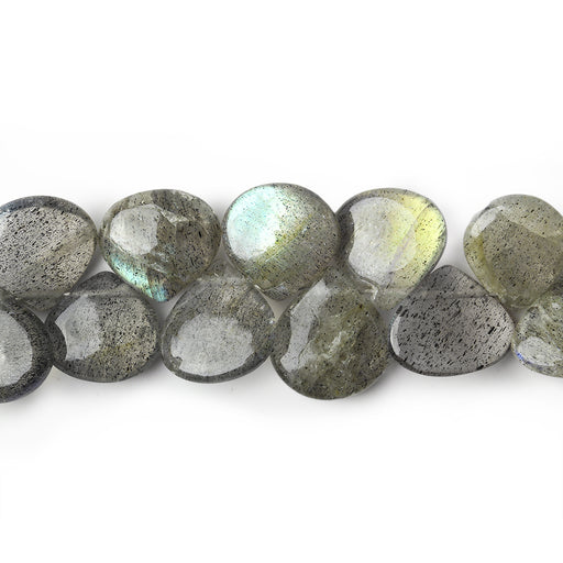 Labradorite Plain Heart Beads 8x8-10x10mm, 8 inch, 48 pieces